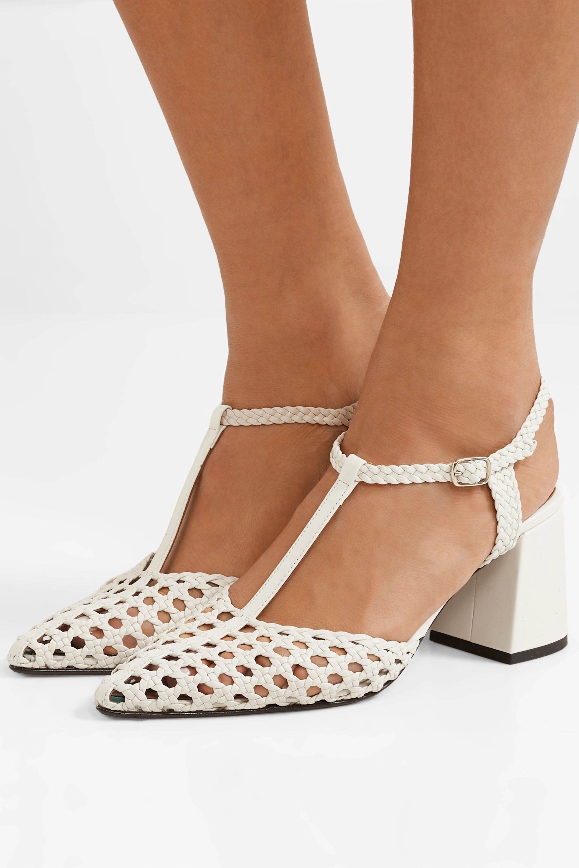 Souliers Martinez Sevilla 编织皮革中跟鞋