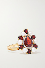 Woman in Red 14-karat gold multi-stone ring