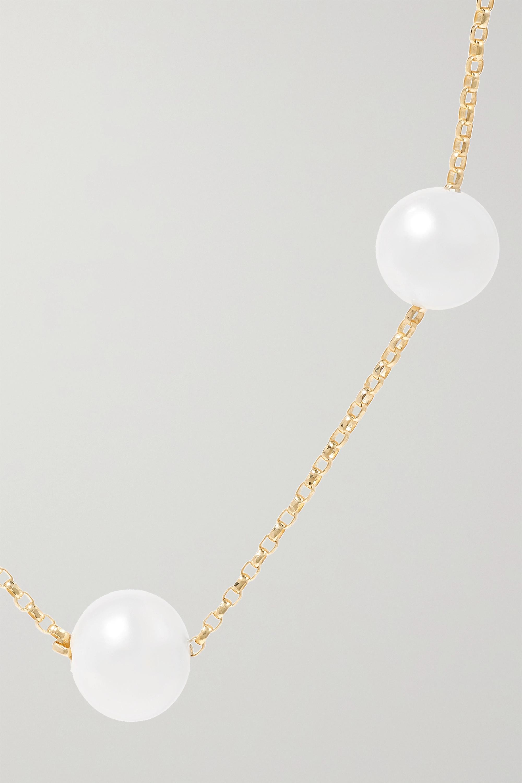Anissa Kermiche Frost in May Kette aus 14 Karat Gold mit Perlen