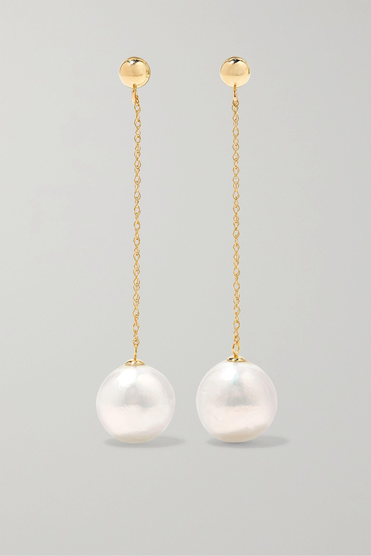 Anissa Kermiche Girl with a Pearl 14-karat gold pearl earrings