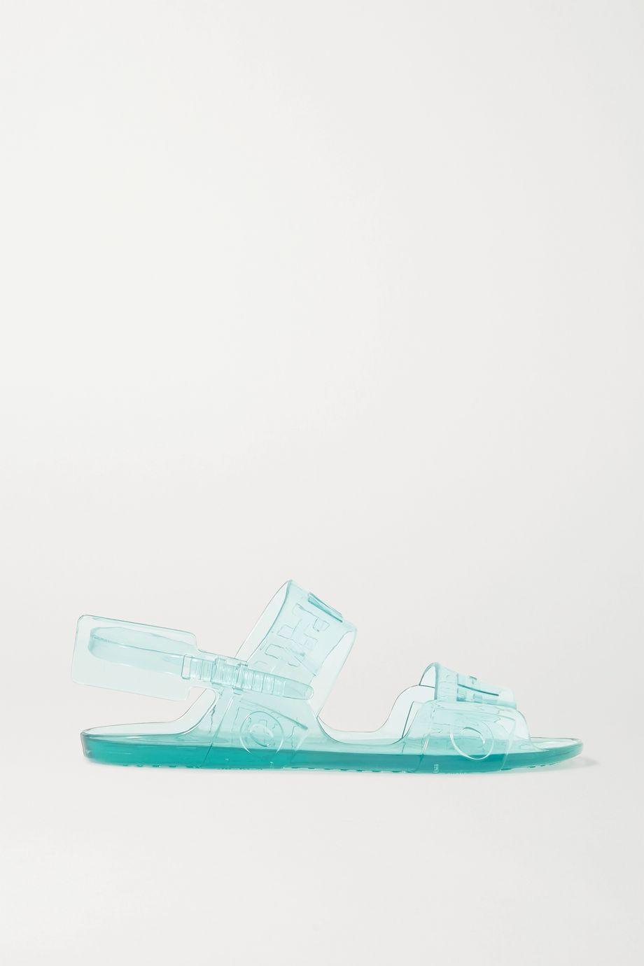 Off-White Logo-embossed rubber slingback sandals