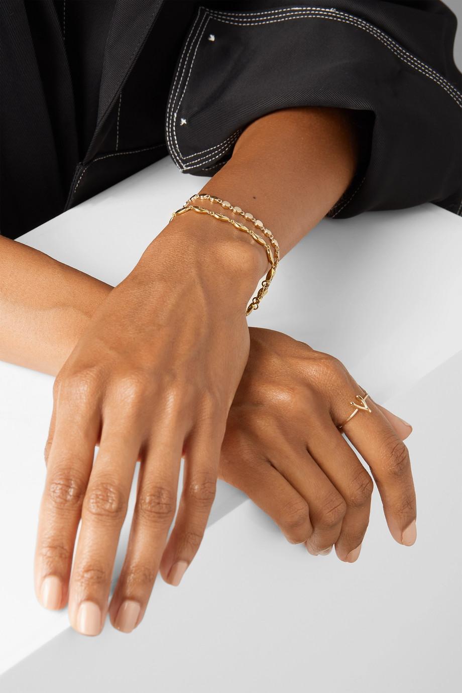 Jennifer Meyer Mini Evil Eye 18-karat gold diamond bracelet