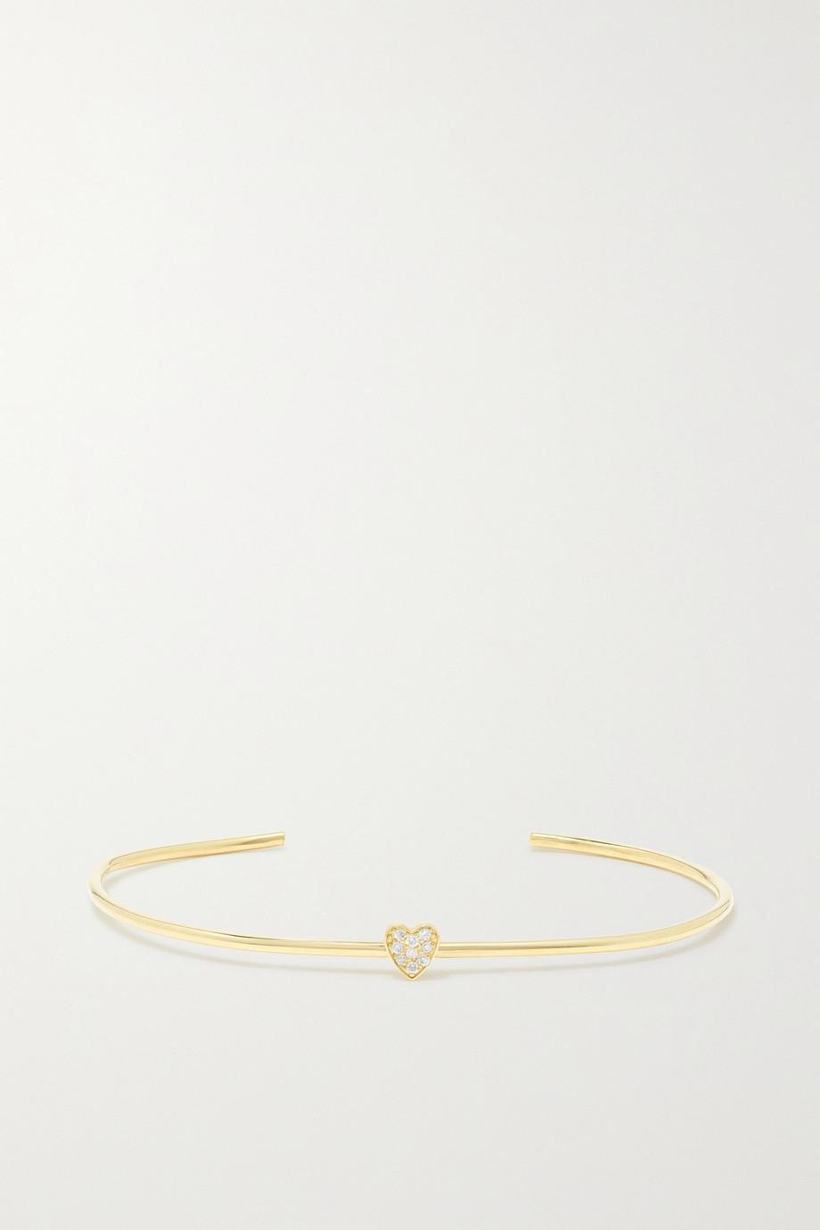 Jennifer Meyer Mini Heart 18-karat gold diamond cuff