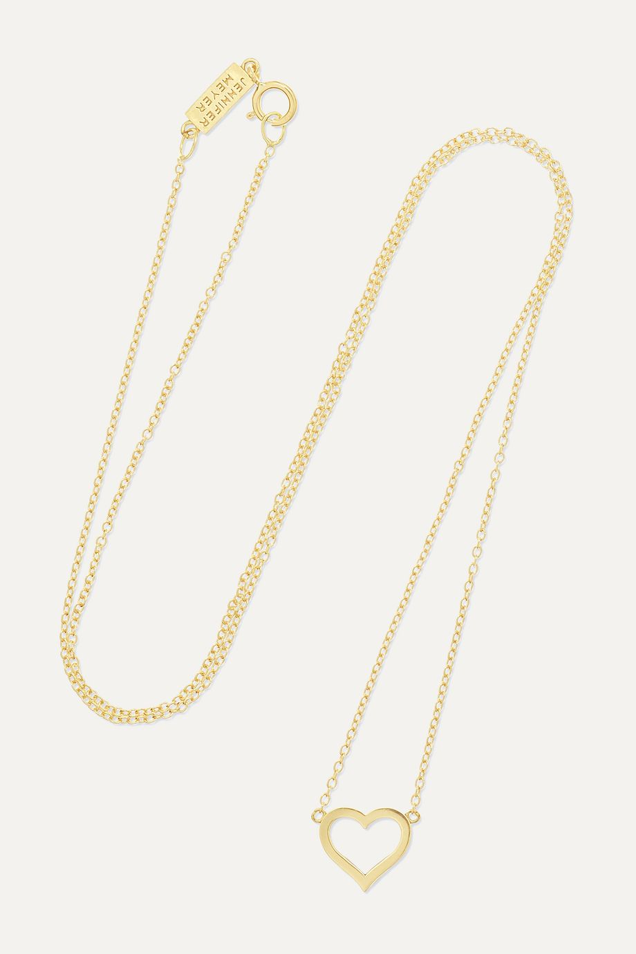 Jennifer Meyer Small Open Heart 18-karat gold necklace