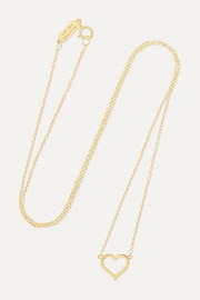 Small Open Heart 18-karat gold necklace