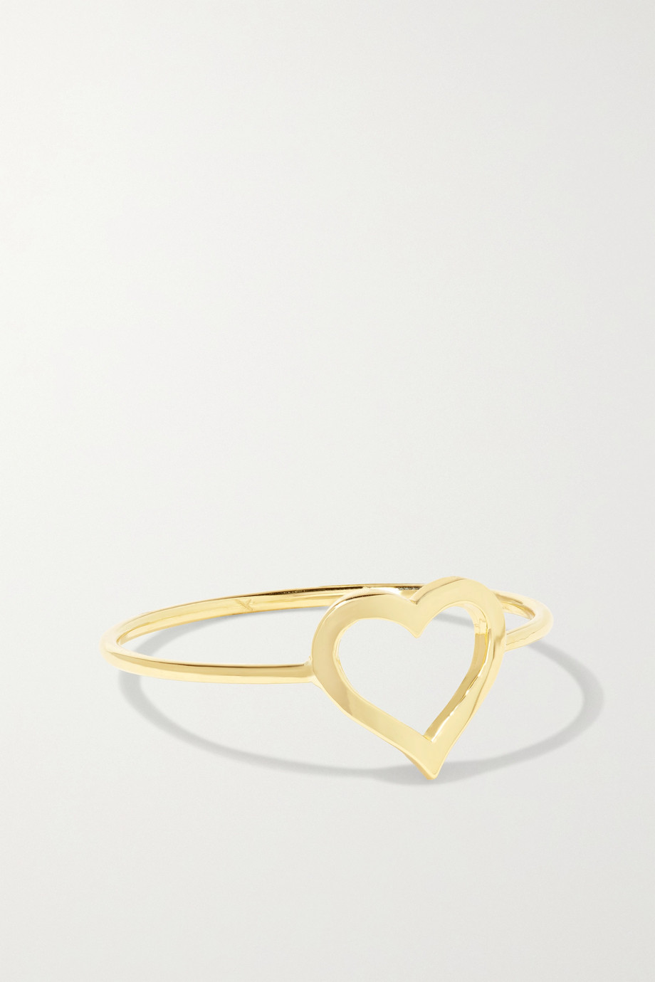 Jennifer Meyer Small Open Heart 18-karat gold ring
