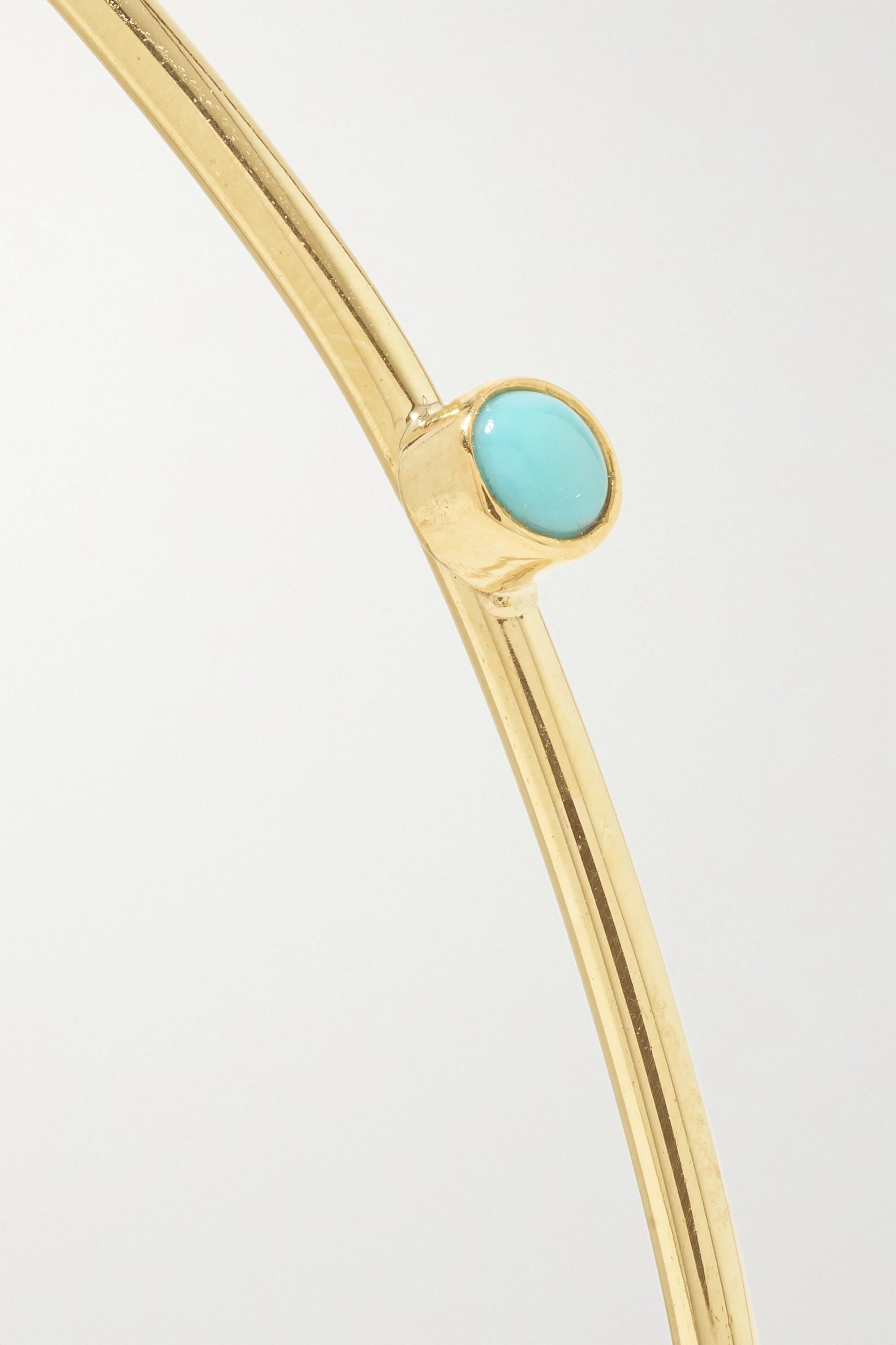 Jennifer Meyer 18-karat gold turquoise cuff