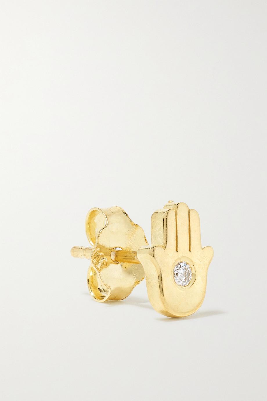 Jennifer Meyer Mini Hamsa 18-karat gold diamond earrings