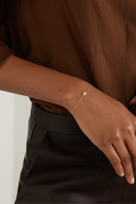 Jennifer Meyer Armband aus 18 Karat Gold mit Diamant