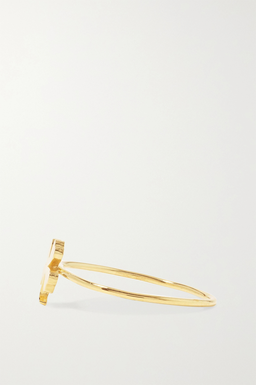 Jennifer Meyer Mini Clover 18-karat gold ring