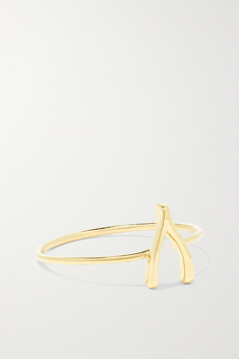 Jennifer Meyer Mini Wishbone 18-karat gold ring