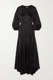 TOVE Sabine silk-crepon midi dress