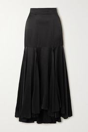 TOVE Aster silk-crepon midi skirt