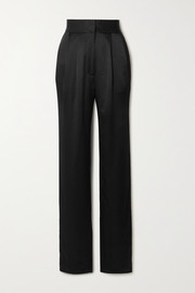 TOVE Remi silk-crepon straight-leg pants