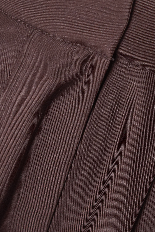 TOVE Remi pleated silk-satin tapered pants