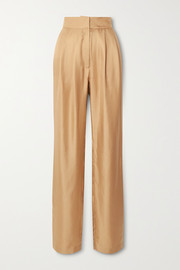 TOVE Remi silk-twill tapered pants