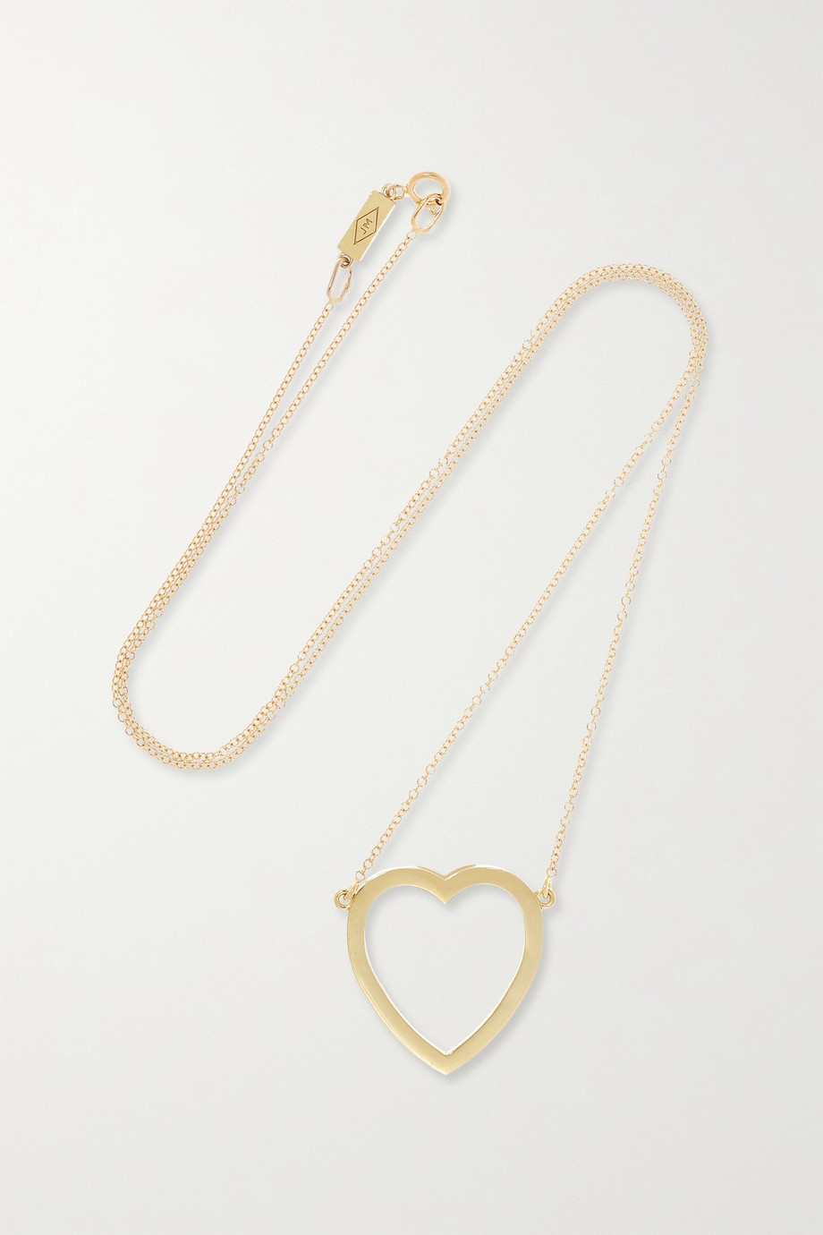 Jennifer Meyer Open Heart 18-karat gold necklace