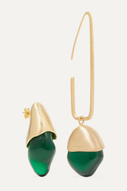 1064 Studio Gold-plated and resin earrings