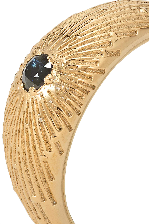 Meadowlark Inez gold-plated sapphire ring