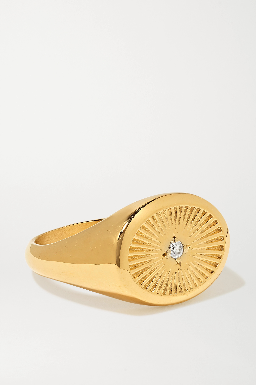 Meadowlark Inez gold-plated diamond ring
