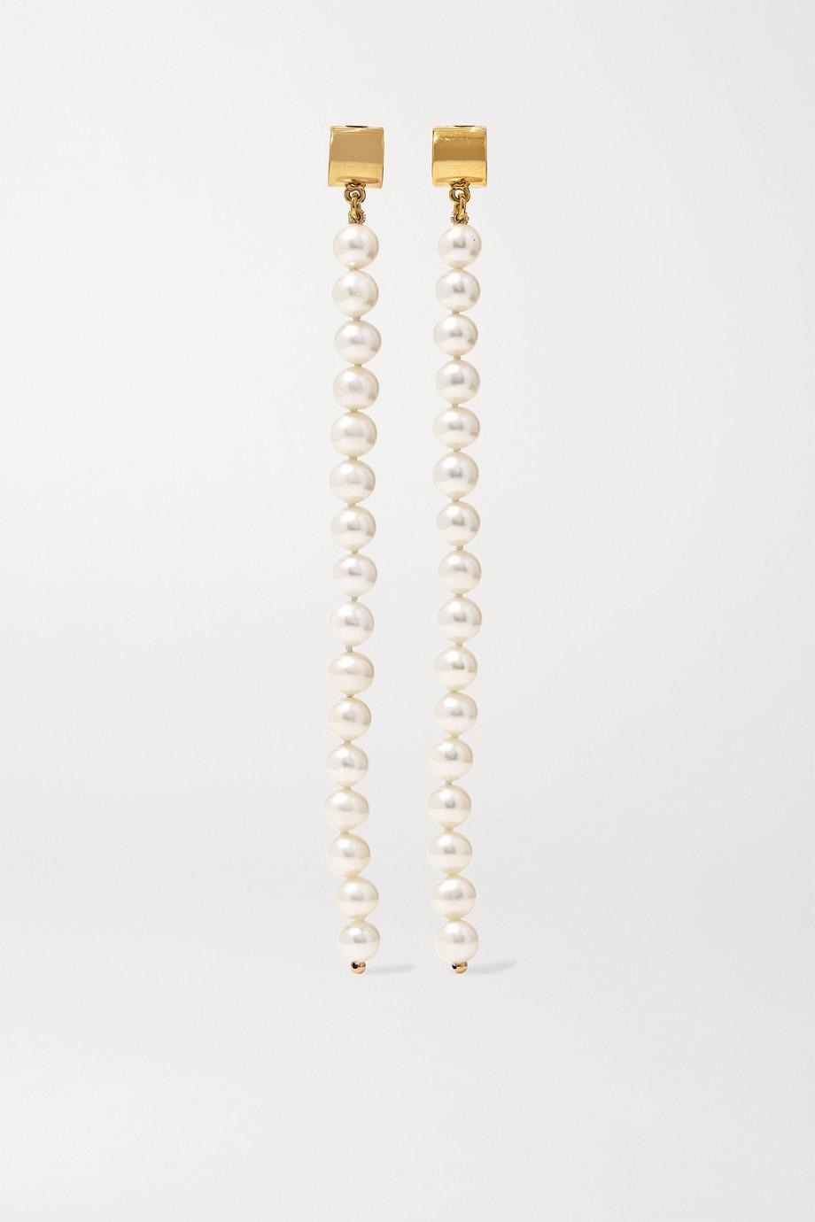 Meadowlark Gold-plated pearl earrings