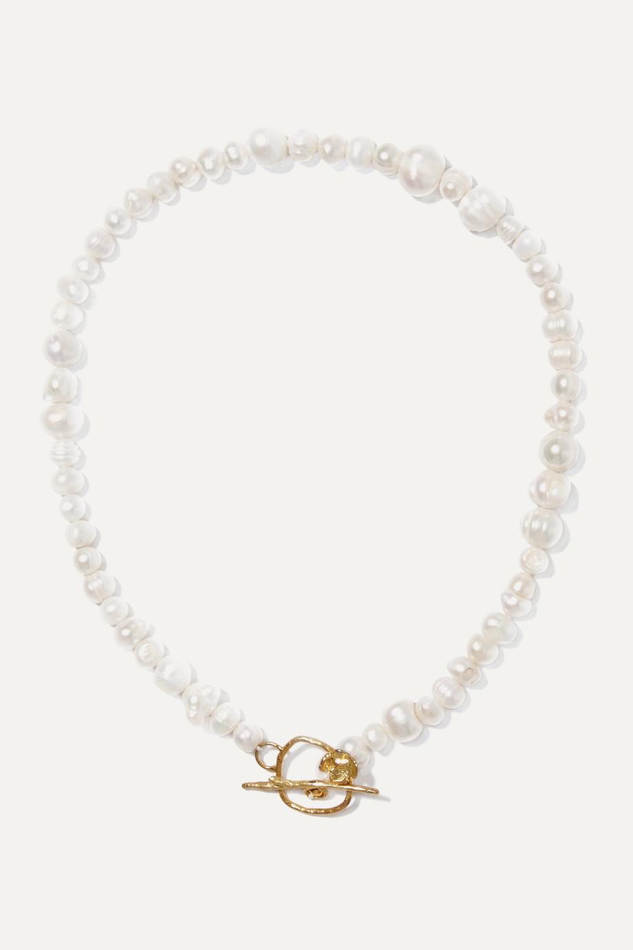 Anita Berisha Magnolia gold-tone pearl necklace