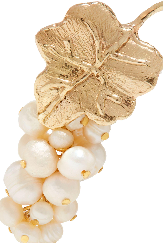 Anita Berisha Grape 珍珠金色耳环