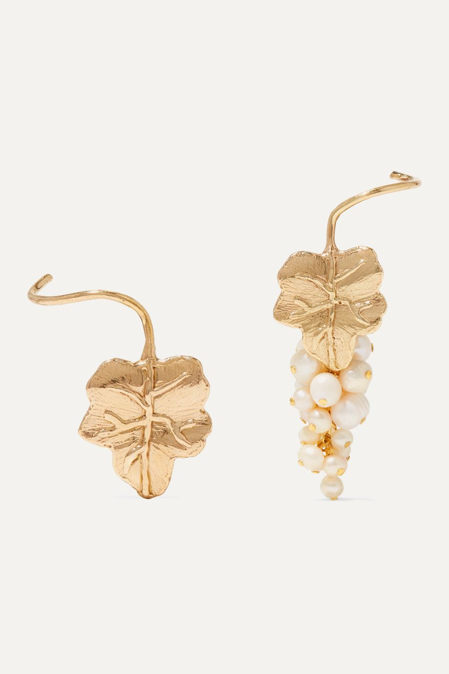 Anita Berisha Grape gold-tone pearl earrings