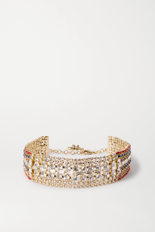 Rosantica Luci gold-tone crystal choker