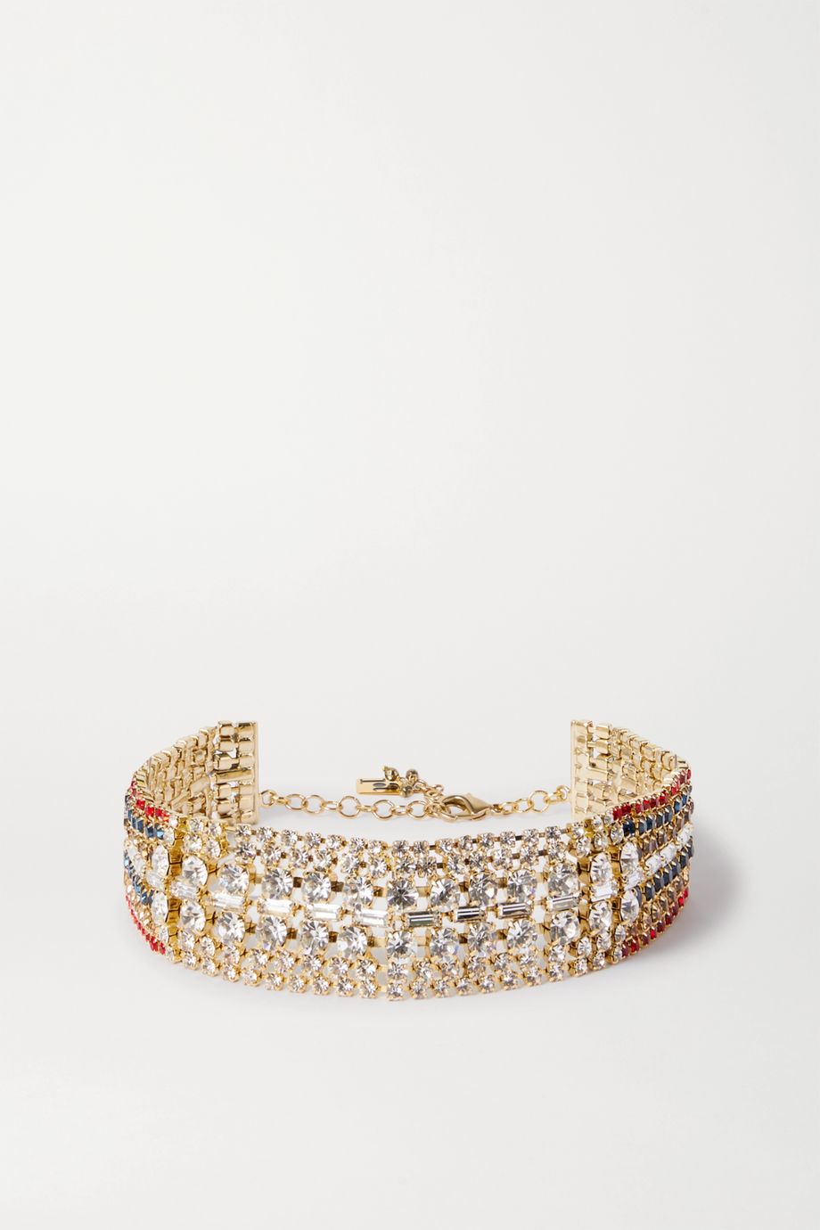 Rosantica Luci gold-tone crystal choker