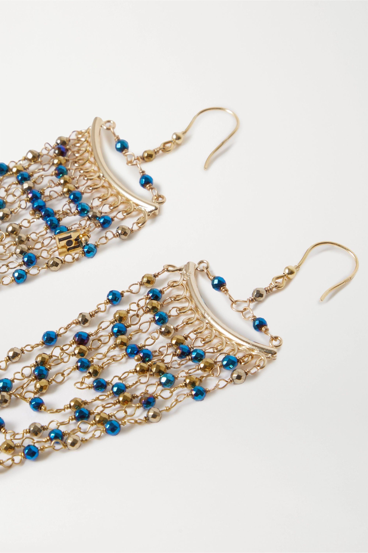 Rosantica Aurora 金色串珠耳环