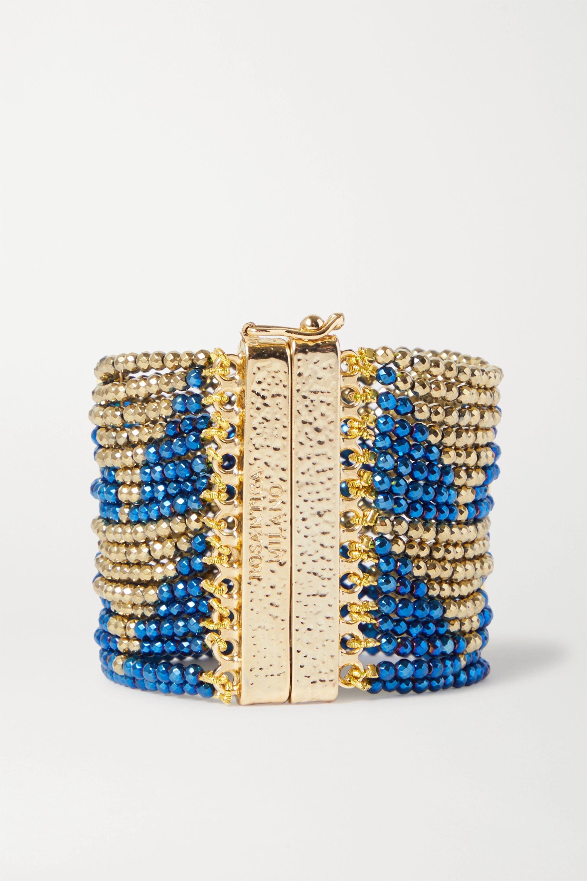 Rosantica Aurora gold-tone beaded bracelet