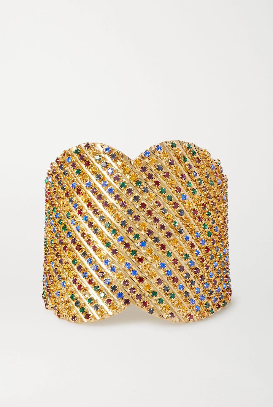 Rosantica Iside gold-tone crystal cuff