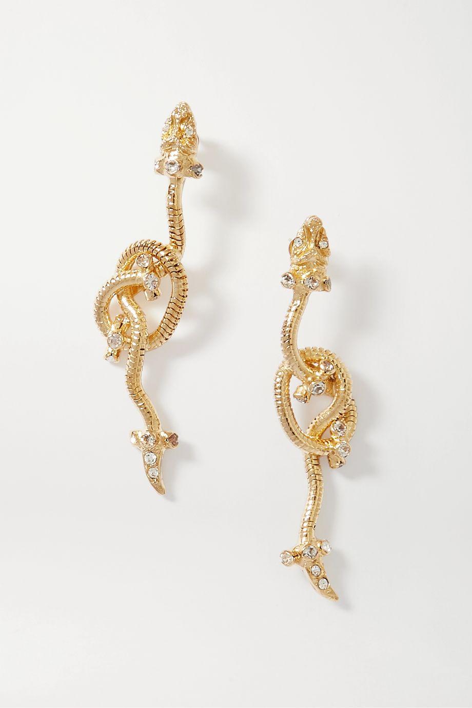 Rosantica Giza gold-tone and crystal earrings