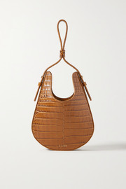 S.Joon Teardrop croc-effect leather tote