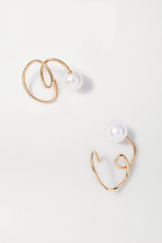 Buoy gold vermeil pearl ear cuffs