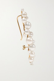 Dream Buoy 10-karat gold pearl earring