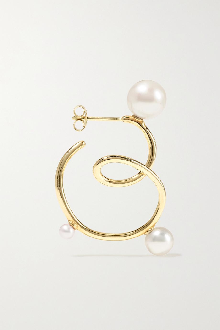 SARAH & SEBASTIAN Buoy 10-karat gold pearl earrings