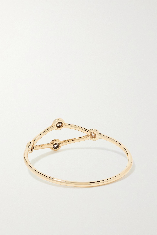 SARAH & SEBASTIAN Net Ring aus 10 Karat Gold mit Diamanten