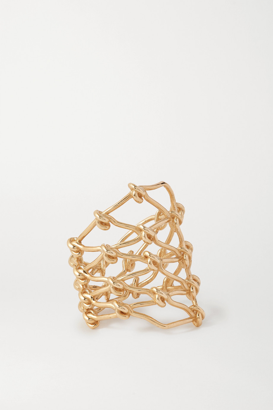 SARAH & SEBASTIAN Large Net 10-karat gold ring