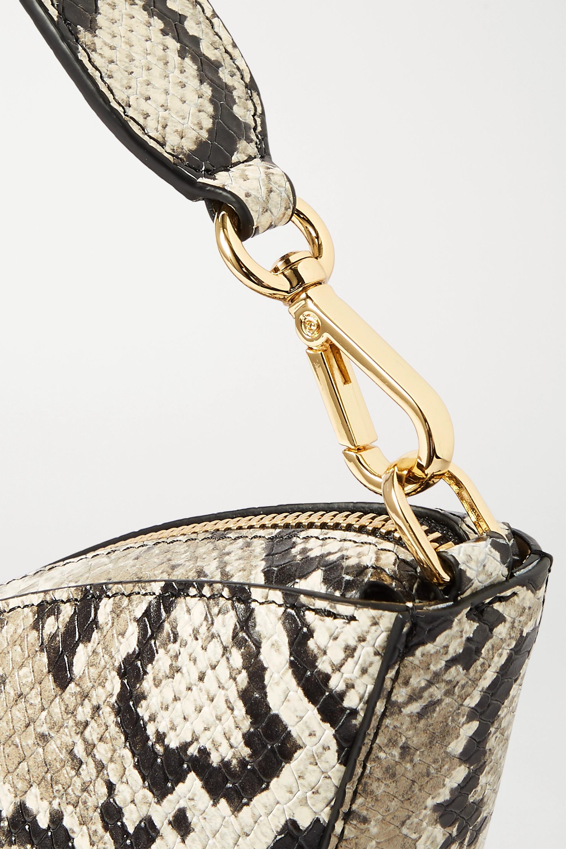S.Joon Tulip python-effect leather shoulder bag