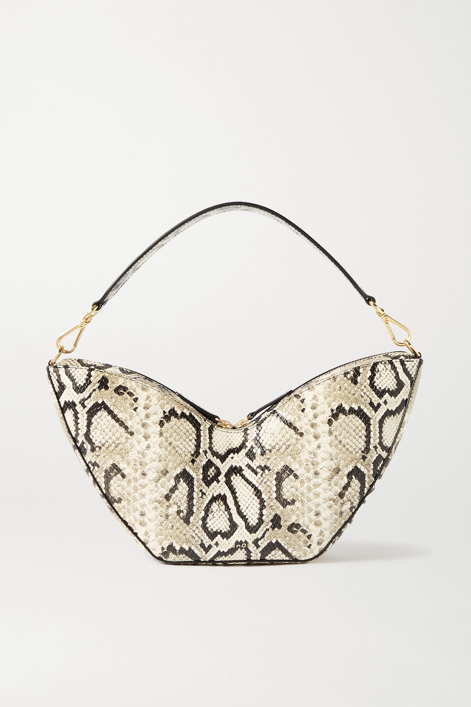 S.Joon Tulip python-effect leather shoulder bag