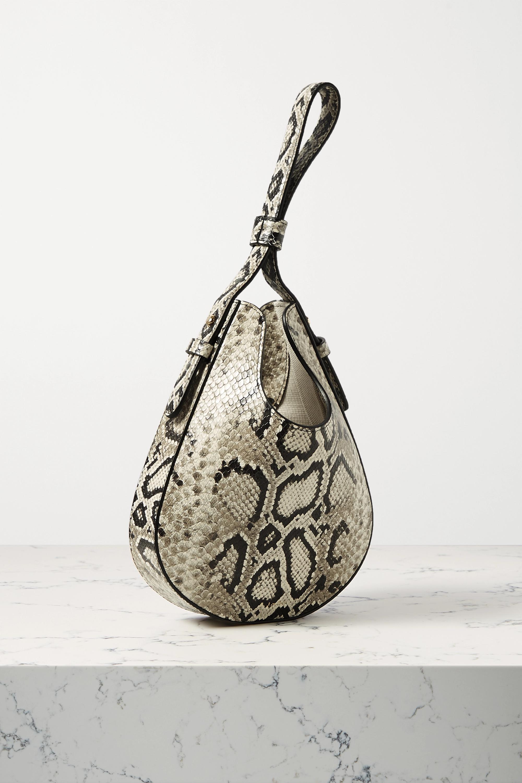 S.Joon Teardrop python-effect leather tote