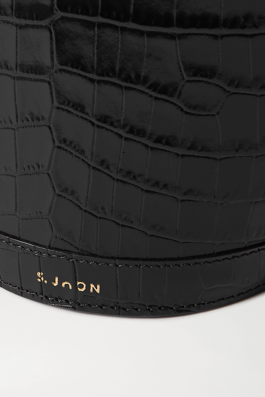 S.Joon Milk Pail 仿鳄鱼纹皮革手提包