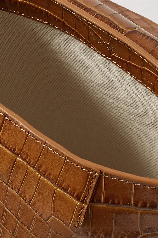 S.Joon Milk Pail croc-effect leather tote