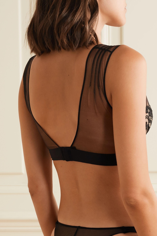 I.D. Sarrieri Questa Sera embroidered stretch-tulle underwired soft-cup bra