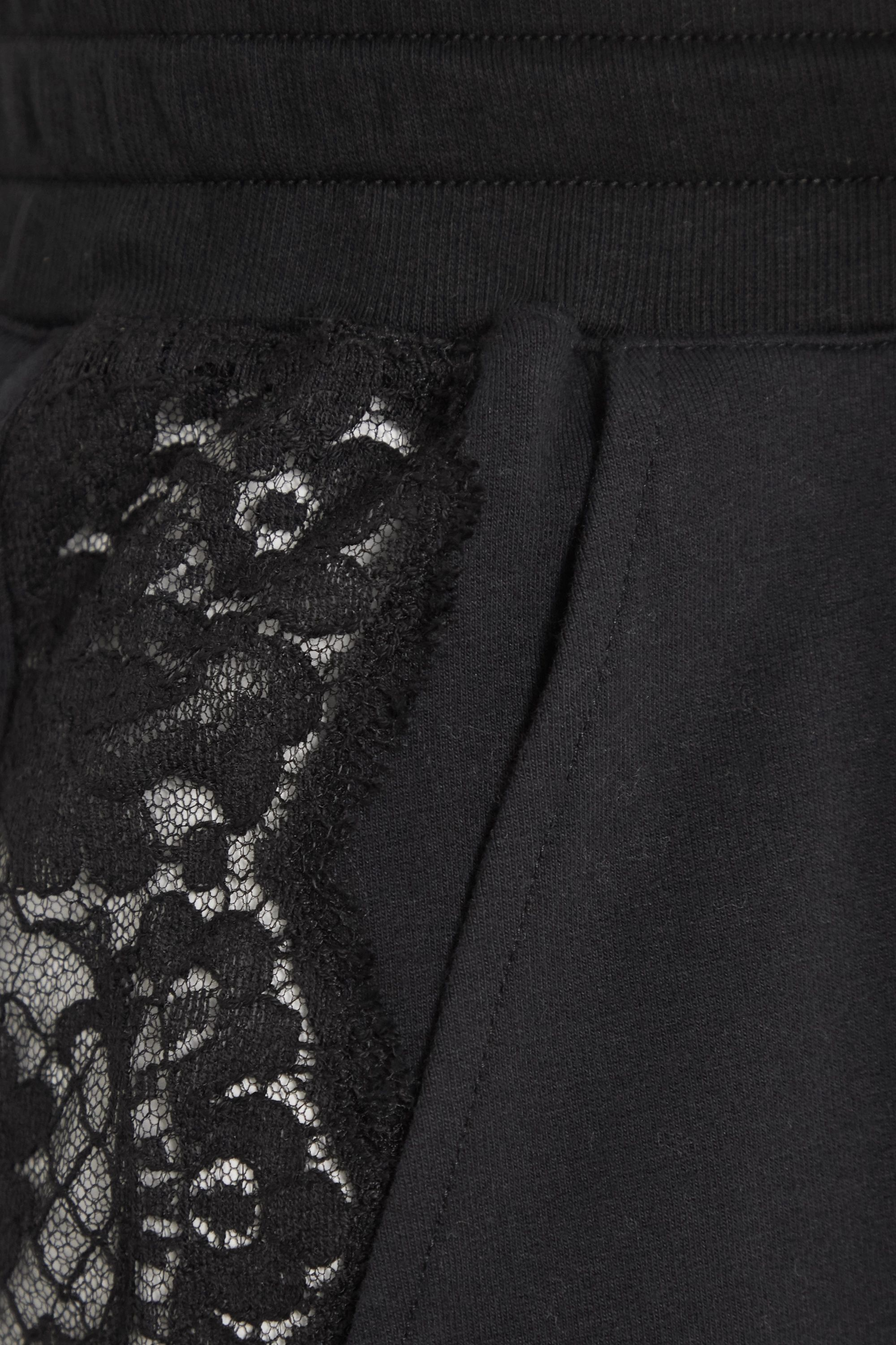 I.D. Sarrieri After Hours lace-paneled stretch cotton-blend jersey track pants