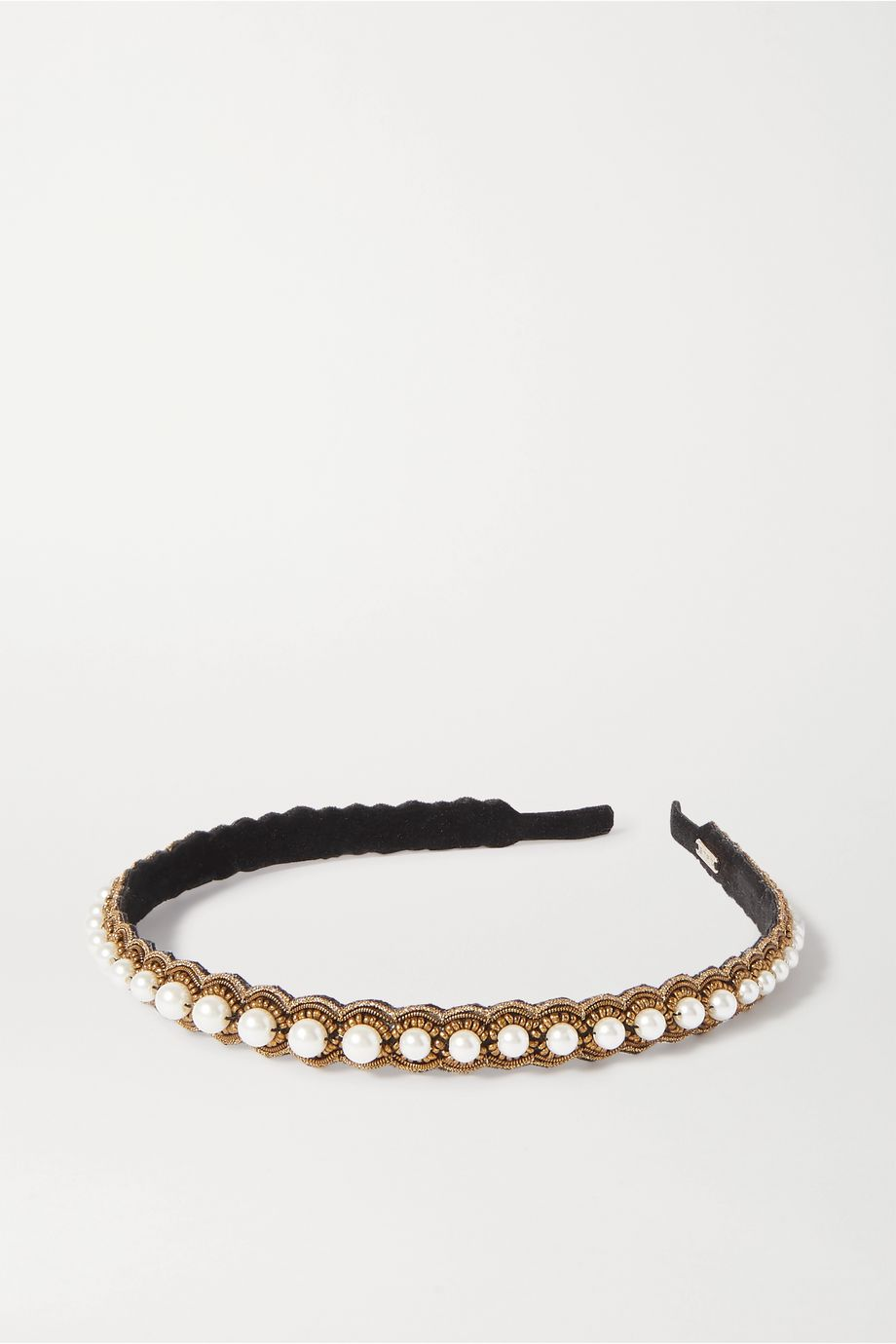 Etro Embellished embroidered velvet headband