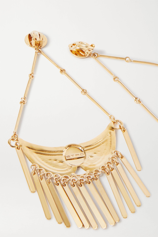 Etro 穗饰金色夹扣式耳环