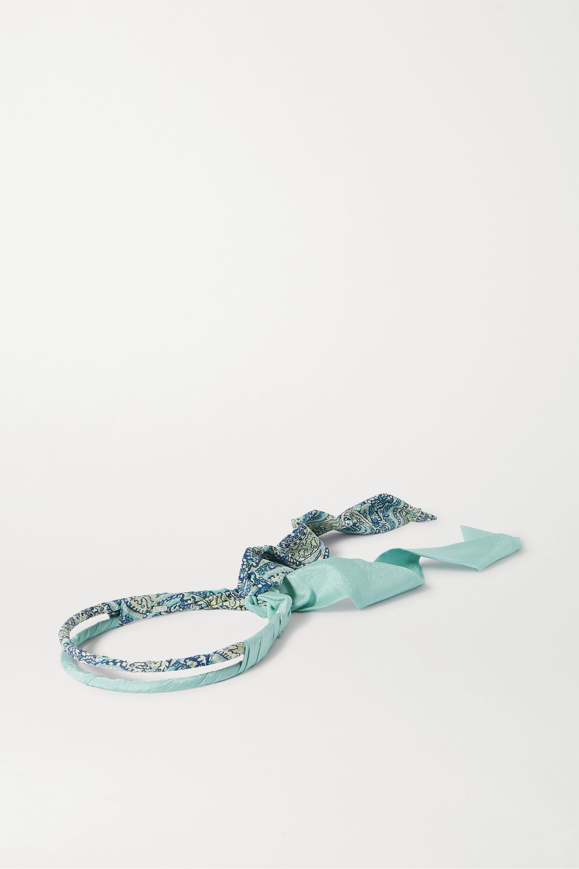 Etro Metallic paisley-print satin headband